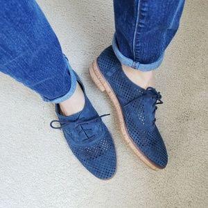 Vince Camuto Womens Lesta Size 10 Blue Suede Shoes